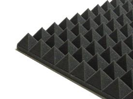 Pyramidenschaumstoff schwarz
